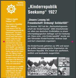 Infostele Kinderrepublik Seekamp