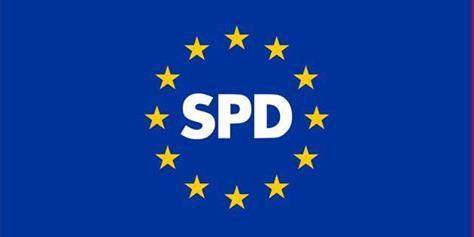 Europaflagge und SPD