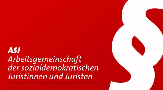 Logo der ASJ, Arbeitsgemeinschaft sozialdemokratischer Juristinnen und Juristen
