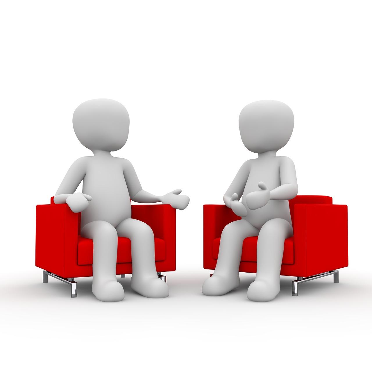Gespräch in Sesseln