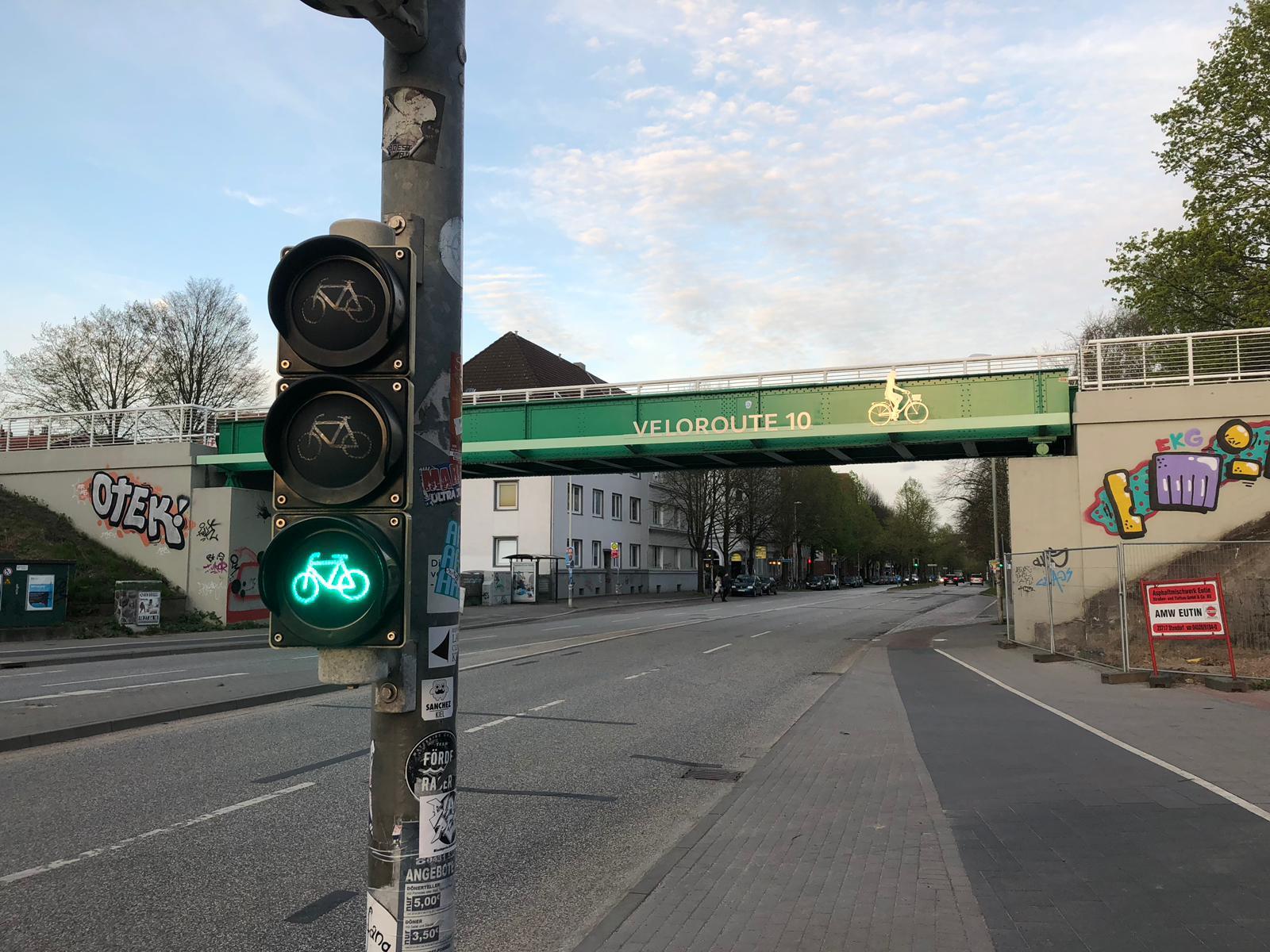 Veloroute 10, Gutenbergstraße