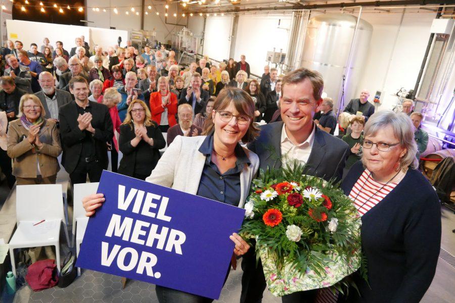 Gesine Stück (SPD-Kreisvorsitzende), Ulf Kämpfer (Oberbürgermeister Kiel), Gesa Langfeldt (SPD-Fraktionsvorsitzende)