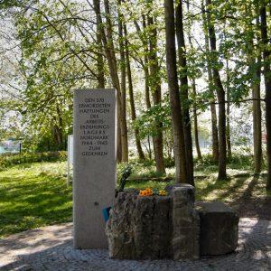 Gedenkstein am AEL Nordmark
