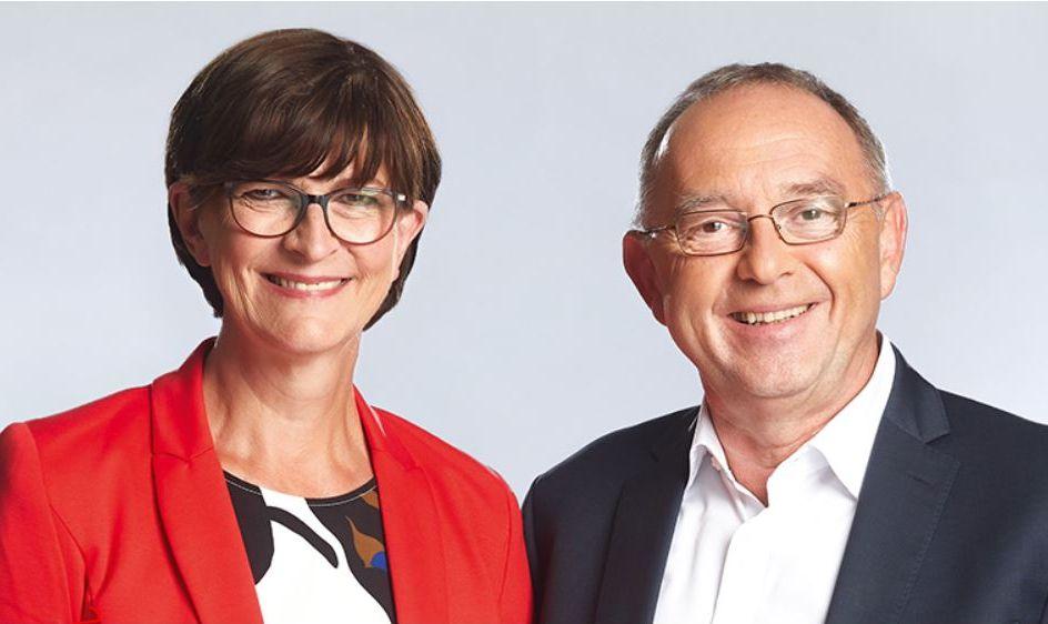 Saskia Esken und Norbert Walter-Borjans