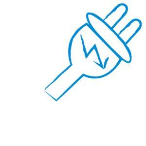 Ein Symbol für das Politikfeld Elektrizität