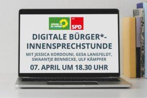 Digitale Bürger*innensprechstunde 7.4.2020