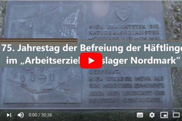 """75.Jahrestag der Befreiung der Häftlinge im """"Arbeitserziehungslager Nordmark"""""""