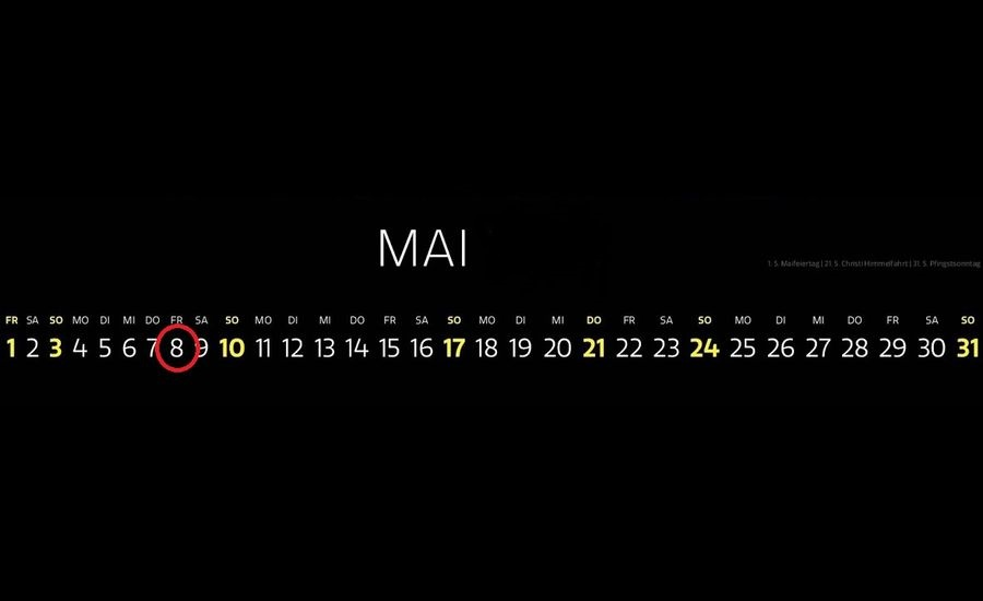Kalender 8. Mai