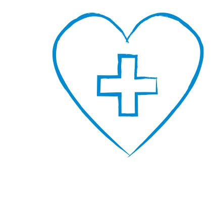 Symbol in Form eines Kreuzes in einem Herzen