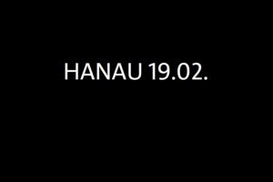 Hanau 19.2. auf schwarzer Farbe