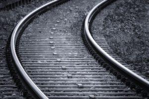 Schienen in der Kurve