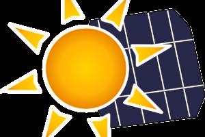 Zeichnung Sonne und Solardach